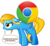 Size: 490x447   Tagged: safe, artist:bedupolker, edit, oc, oc only, oc:internet explorer, earth pony, pony, browser ponies, carrying, dialogue, female, floppy ears, google chrome, internet browser, internet explorer, mare, open mouth, ponified, sad, simple background, solo, transparent background