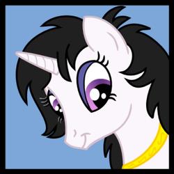Size: 300x300 | Tagged: artist needed, safe, artist:tim-kangaroo, pony, unicorn, bronycon, female, mare, nicole oliver, ponified, solo