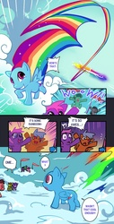 Size: 710x1400 | Tagged: artist:bakki, bald, balderdash, comic, female, filly, filly rainbow dash, foal, no tail, pegasus, pony, rainbow dash, rainbow trail, safe, sonic rainboom, the cutie mark chronicles, younger