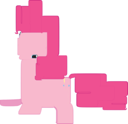 Size: 1060x1032 | Tagged: artist needed, safe, pinkie pie, earth pony, pony, female, mare, photoshop, simple background, solo, stock vector, transparent background, wat, weird