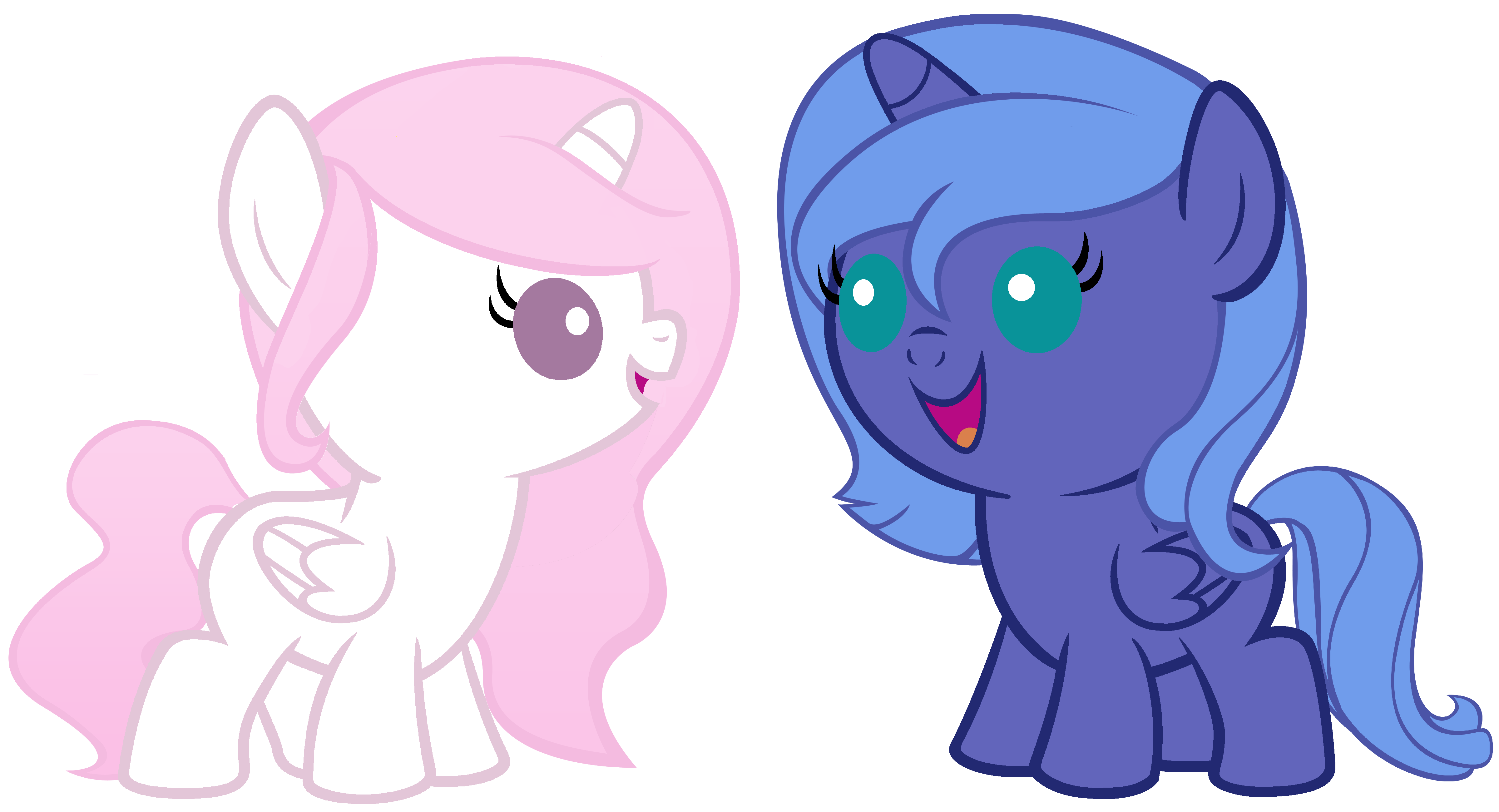 My Little Pony Friendship Is Magic Baby Luna And Celestia