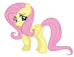 Size: 10000x7817 | Tagged: absurd res, artist:gratlofatic, female, fluttershy, mare, pegasus, pony, raised hoof, safe, simple background, solo, transparent background, vector