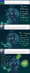 Size: 640x1536 | Tagged: safe, artist:pekou, queen chrysalis, changeling, changeling queen, ask chrysalis, ask, female, solo, tumblr