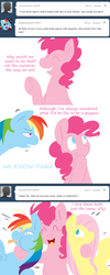 Size: 631x1570 | Tagged: dead source, safe, artist:cartoonlion, fluttershy, pinkie pie, rainbow dash, earth pony, pegasus, pony, ask, female, flutterdashpie, group hug, hug, mare, no pupils
