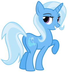 Size: 5610x6000 | Tagged: absurd res, artist:the smiling pony, female, looking back, mare, plot, pony, safe, simple background, smiling, solo, transparent background, trixie, unicorn