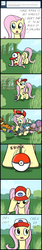 Size: 670x3980 | Tagged: safe, artist:flavinbagel, fluttershy, charizard, koffing, pegasus, pony, ask gamer ponies, ask, comic, crossover, female, homestar runner, mare, pokémon, the cheat