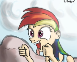 Size: 1500x1219 | Tagged: safe, artist:kvoakes17, rainbow dash, human, female, humanized, open mouth, solo