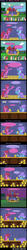 Size: 1228x11560 | Tagged: safe, artist:evil-dec0y, berry punch, berryshine, trixie, earth pony, pony, unicorn, comic:trixie vs., cape, cider, clothes, comic, crowd, drinking contest, drunk, drunk bubbles, female, hat, mare, passed out, rearing, stage, trixie's cape, trixie's hat