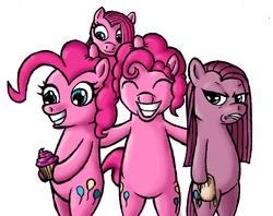 Size: 1158x919   Tagged: safe, artist:darkone10, pinkie pie, earth pony, pony, bipedal, bubble berry, female, filly, foal, male, mare, pinkamena diane pie, rule 63, self ponidox, stallion