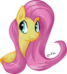 Size: 1182x1300 | Tagged: safe, artist:buttercupsaiyan, artist:dotkwa, fluttershy, pegasus, pony, female, mare, simple background, smiling, solo, transparent background