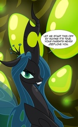 Size: 462x747   Tagged: safe, artist:tarajenkins, queen chrysalis, changeling, changeling queen, cupidite, female, solo