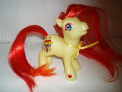 Size: 640x480   Tagged: safe, artist:thelovecat, fiesta flair, earth pony, pony, custom, female, g3, irl, mare, photo, solo, toy