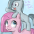 Size: 900x900   Tagged: safe, artist:speccysy, marble pie, pinkie pie, earth pony, pony, cute, cuteamena, diapinkes, duo, duo female, female, filly, filly pinkie pie, foal, marblebetes, pie sisters, pie twins, pinkamena diane pie, ponies riding ponies, riding, twins, weapons-grade cute, younger