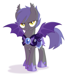 Size: 1800x2100   Tagged: safe, artist:equestria-prevails, oc, oc only, oc:midnight blossom, bat pony, pony, armor, cute, female, looking at you, mare, night guard, simple background, smiling, solo, spread wings, transparent background, wings