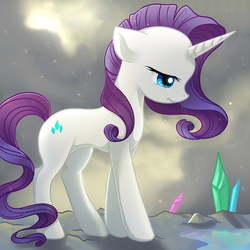 Size: 2222x2222   Tagged: safe, artist:jacky-bunny, rarity, pony, unicorn, crying, crystal, female, high res, mare, solo