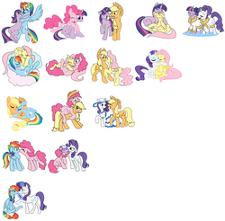 Size: 2008x1972 | Tagged: accessory swap, appledash, applejack, applepie, appleshy, artist:calicopikachu, bathrobe, braid, braided tail, chart, clothes, cloud, combinations, cowboy hat, cute, cutie mark, dress, earth pony, female, flarity, flutterdash, flutterpie, fluttershy, hat, hoof bath, hooves, horn, kissing, lesbian, lipstick, lying on a cloud, makeover, makeup, mane six, mare, omniship, on a cloud, pegasus, pie, pinkiedash, pinkie pie, pony, rainbow dash, raridash, rarijack, rarilight, raripie, rarity, safe, shipping, shipping chart, simple background, twidash, twijack, twilight sparkle, twinkie, twishy, unicorn, unicorn twilight, wall of tags, white background, wings