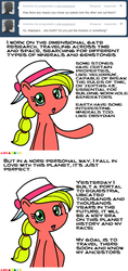 Size: 547x1157   Tagged: safe, artist:claireannecarr, earth pony, pony, ask maplejack, ask, cowboys and equestrians, female, mad (tv series), mad magazine, maplejack, mare, solo, tumblr