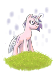 Size: 855x1177 | Tagged: safe, artist:needsmoarg4, twilight, pony, unicorn, female, g1, g1 to g4, generation leap, grass, magic, mare, solo