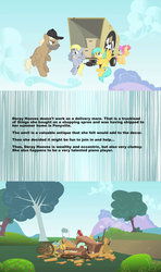 Size: 1280x2160 | Tagged: safe, screencap, crafty crate, derpy hooves, dizzy twister, merry may, orange swirl, sunshower raindrops, pegasus, pony, feeling pinkie keen, female, headcanon, male, mare, meta, stallion