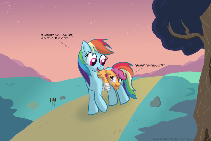 17929 Artist Naterrang Bandage Carrying Crying Dead Source Duo Duo Female Female Filly Injured Mare Pegasus Pony Rainbow Dash Road Safe Scootaloo Scootalove Walking Derpibooru Now we're on a mission to help ponies discover theirs! 17929 artist naterrang bandage