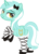 Size: 2295x3152 | Tagged: safe, artist:leopurofriki, lyra heartstrings, pony, unicorn, bedroom eyes, clothes, female, high res, looking back, mare, rearing, shoes, simple background, smiling, socks, solo, transparent background