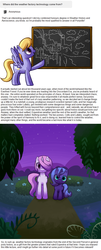 Size: 700x1735 | Tagged: safe, artist:reuniclus, cloud kicker, princess celestia, princess luna, pegasus, pony, unicorn, ask, backstory, female, filly, mare, working hard hardly working, younger