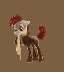 Size: 600x675 | Tagged: artist needed, safe, oc, oc only, oc:coke pony, food pony, original species, mentos, mentos and diet coke, simple background, solo