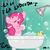 Size: 962x962 | Tagged: safe, artist:megasweet, pinkie pie, earth pony, pony, bath, bathtub, bubble, claw foot bathtub, eyes closed, female, mare, rubber duck, shower, singing, solo, wet mane