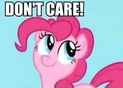 Size: 371x265 | Tagged: earth pony, edit, edited screencap, female, mare, pinkie pie, pony, reaction image, safe, screencap, solo