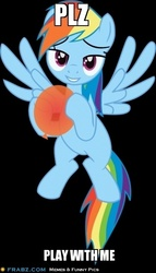 Size: 353x616 | Tagged: safe, rainbow dash, pegasus, pony, balloon, bedroom eyes, black background, bronybait, female, flying, looking at you, mare, simple background, solo, vector