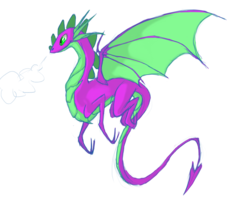 Size: 1700x1500 | Tagged: safe, artist:nowler, spike, dragon, adult spike, flying, male, older, older spike, simple background, solo, transparent background, wings