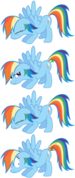 Size: 3000x7157   Tagged: artist needed, safe, rainbow dash, pegasus, pony, accident, comic, diarrhea, fart, female, mare, poop, pooping, scat, shart, simple background, solo, transparent background