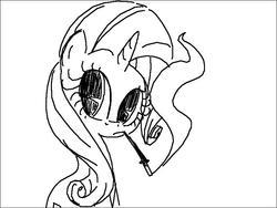 Size: 800x600 | Tagged: safe, artist:that-technique, rarity, pony, unicorn, cigarette, cigarette holder, female, mare, monochrome, sitting, smoking, solo
