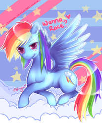 Size: 577x700 | Tagged: safe, artist:felynea, rainbow dash, pegasus, pony, cloud, cloudy, cutie mark, female, heart, mare, solo, stars
