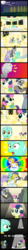 Size: 445x3906 | Tagged: safe, artist:krekka01, bon bon, bruce mane, caesar, lyra heartstrings, lyrica lilac, sweetie drops, birthday, comic, filly, foal, sad, younger