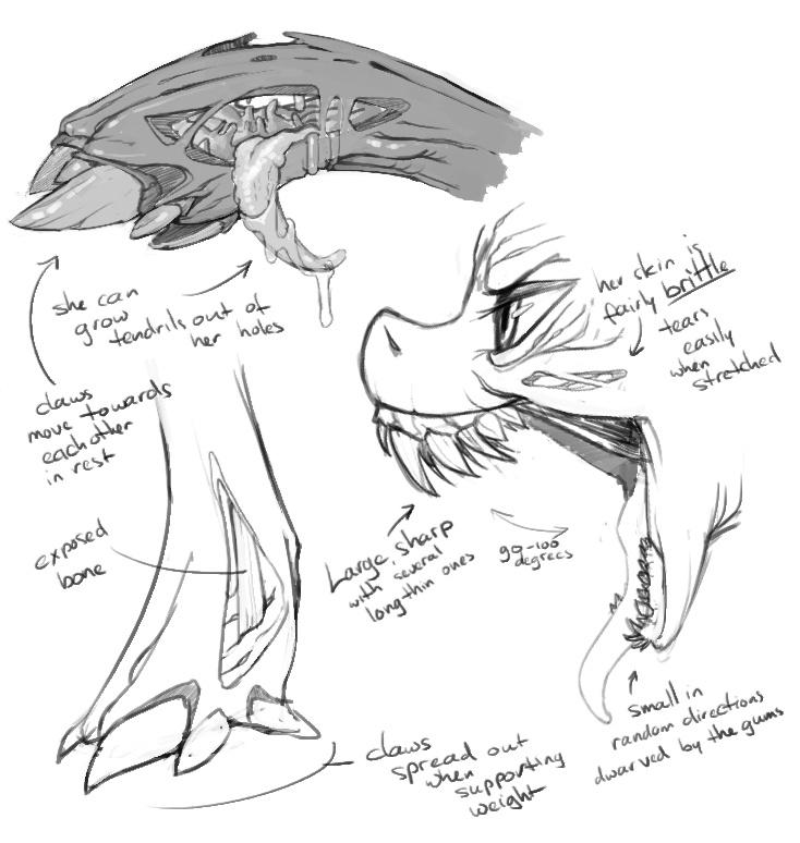 23945 - anatomy, artist:kevinsano, bone, changeling, claws, concept ...