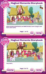 Size: 625x996 | Tagged: apple bloom, artist:ponyholic, cutie mark crusaders, hilarious in hindsight, magical moments storybook, safe, scootaloo, sweetie belle, truth