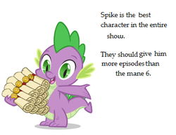 Size: 390x300 | Tagged: best pony, meta, safe, spike, spike is best pony