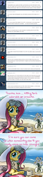 Size: 640x2628   Tagged: safe, fluttershy, pegasus, pony, ask-dr-adorable, clothes, comic, dr adorable, drinking, female, goggles, hat, hoof hold, juice, juice box, lab coat, looking at you, mare, sipping, sitting, solo, summer hat, three quarter view