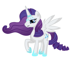 Size: 850x650 | Tagged: alicorn, alicornified, artist:pvt-llama, pony, race swap, raricorn, rarity, safe, simple background, solo, transparent background