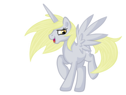 Size: 800x600 | Tagged: alicorn, alicornified, artist:pvt-llama, derpicorn, derpy hooves, pony, race swap, safe, simple background, solo, transparent background