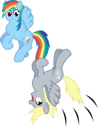 Size: 1000x1289 | Tagged: artist:greydragon412, derpy hooves, female, mare, pegasus, pony, rainbow dash, safe, simple background, transparent background