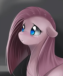 Size: 667x800 | Tagged: safe, artist:tsampikos, pinkie pie, earth pony, pony, bust, colored pupils, crying, cute, featured image, female, floppy ears, mare, pinkamena diane pie, sad, sadorable, solo