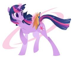 Size: 636x503 | Tagged: safe, artist:kilo, twilight sparkle, pony, unicorn, book, cutie mark, female, glowing horn, horn, magic, simple background, solo