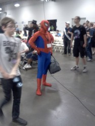 Size: 1536x2048 | Tagged: safe, bronycon, convention, meta, photo, spider-man