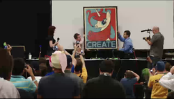Size: 556x317 | Tagged: safe, bronycon, lauren faust, meta, photo