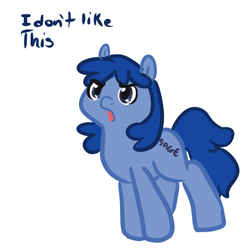 Size: 450x450 | Tagged: safe, artist:mt, oc, oc only, oc:sage (4chan), earth pony, pony, 4chan, female, mare, reaction image, simple background, solo, white background