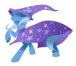 Size: 909x795 | Tagged: safe, artist:kilo, trixie, pony, unicorn, female, mare, raised hoof, simple background, solo, white background