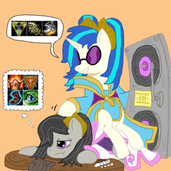 Size: 720x720 | Tagged: dj pon-3, league of legends, octavia melody, safe, sona, vinyl scratch