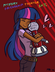 Size: 1041x1347 | Tagged: safe, artist:ashesg, artist:megasweet, twilight sparkle, colored, dark skin, humanized, mystery science theater 3000, tom servo